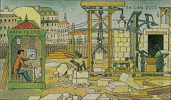 Construção - A vida no ano 2000 imaginada cem anos antes