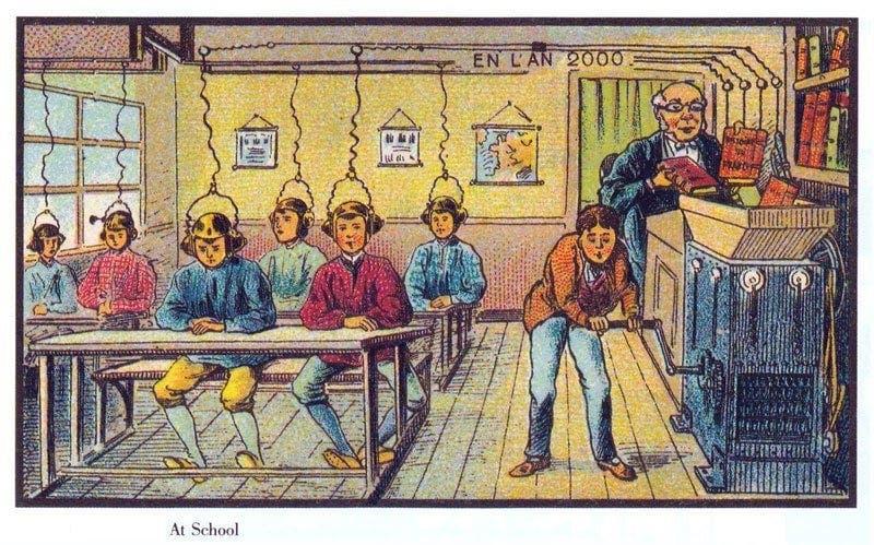Escola - A vida no ano 2000 imaginada cem anos antes