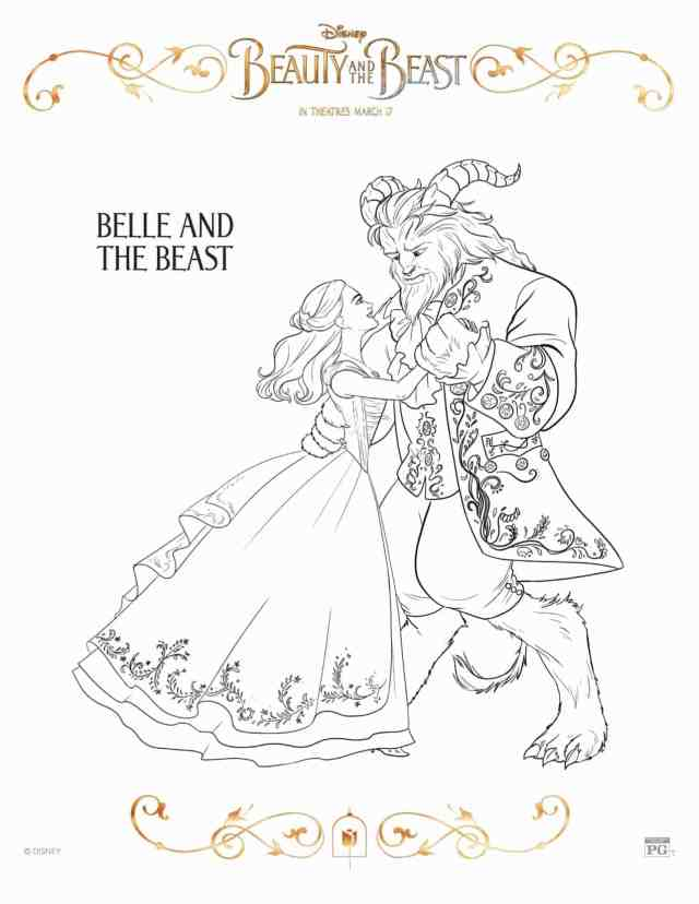 Free Printable Beauty and the Beast Coloring Pages - Lola Lambchops
