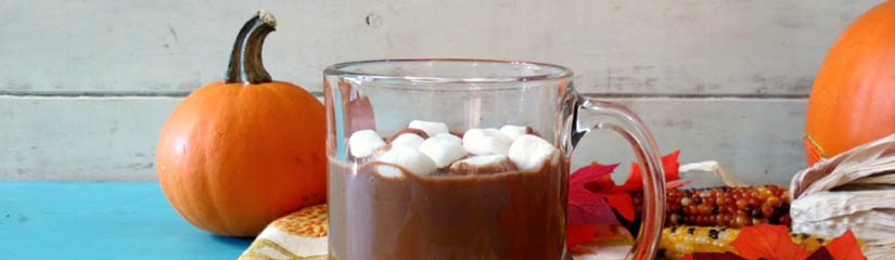 Chocolate caliente con un toque de calabaza