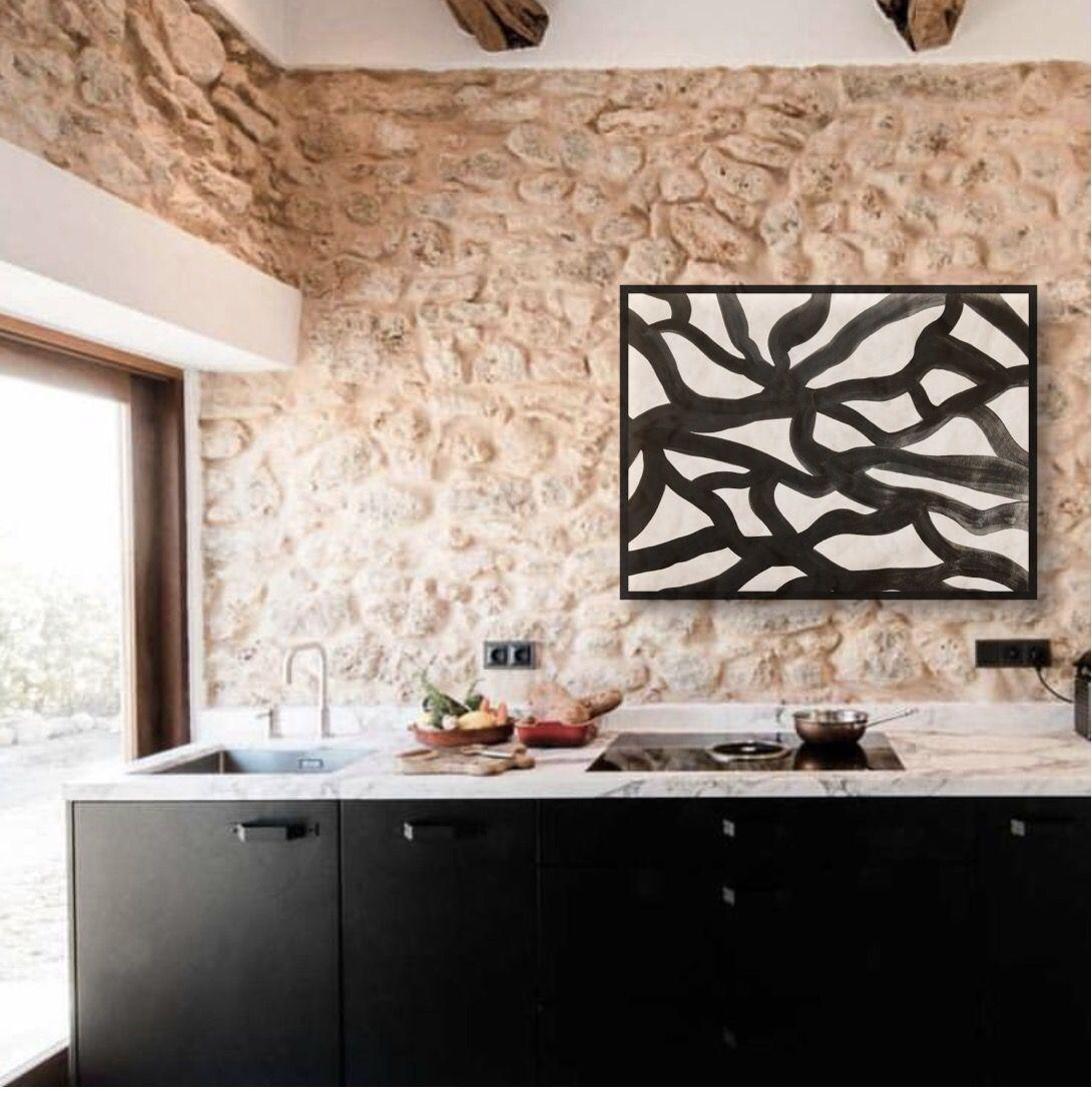 cocinas con arte abstracto