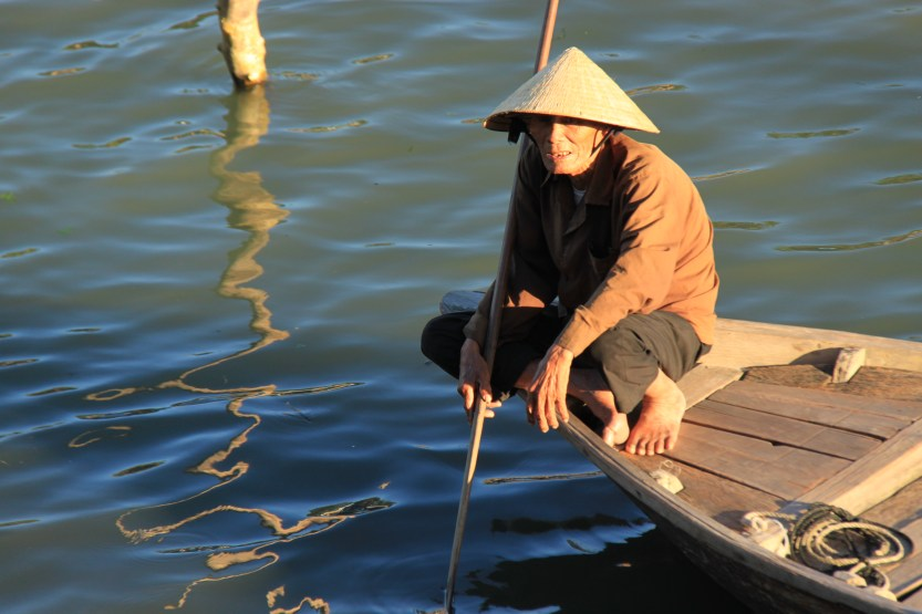 Male taxi boat driver, Hoi An
