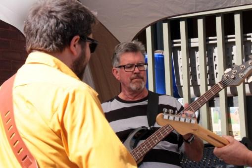 Rotarian Mark Bishop with Ian of Tony Vani & Friends
