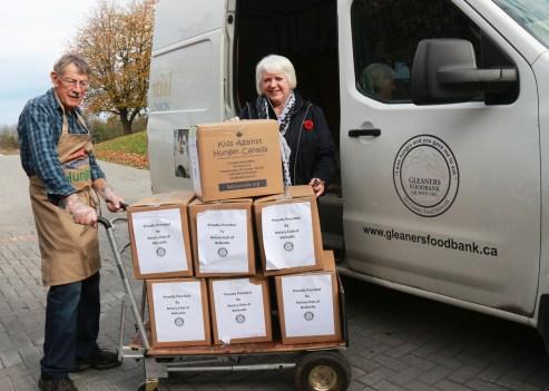 Don Holmes & Susanne Quinlan ED Gleaners Food Bank Belleville