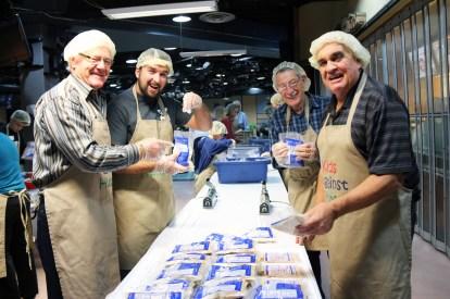 Rotarians Dave Stewart, Colin Leaver, Don Holmes, & Brian Bentley