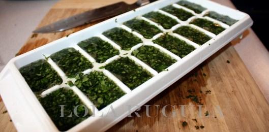 how to make basil ice cubes lola rugula