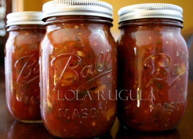 lola rugula chunky salsa canning recipe 4