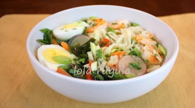 lola rugula homemade ramen style udon noodle bowl recipe