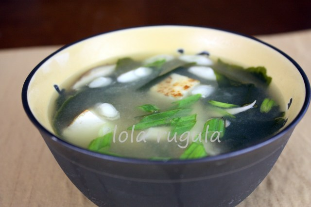 lola rugula how to make miso soup recipe