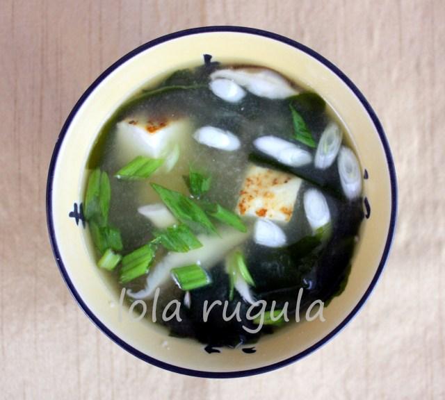 lola rugula mushroom miso soup reipe