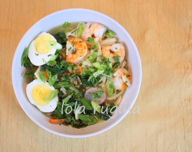 lola rugula ramen udon noodle bowl recipe