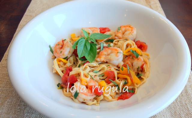 lola rugula pasta with shrimp recipe