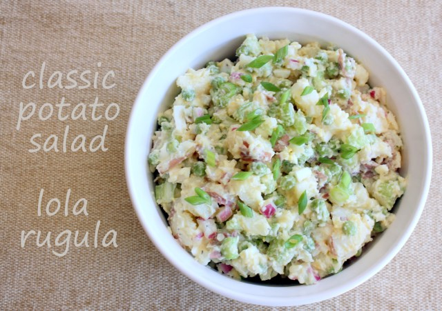 lola rugula classic red skin potato salad recipe