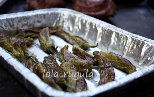 lola rugula grilled shishito peppers