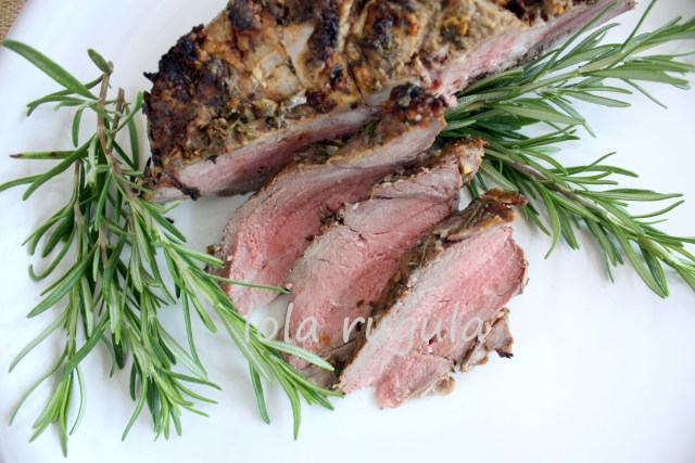 lola rugula butterflied leg of lamb grilled