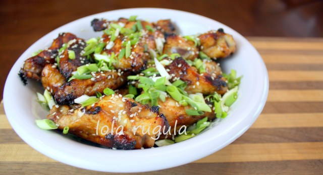lola rugula spicy honey sesame chicken wings