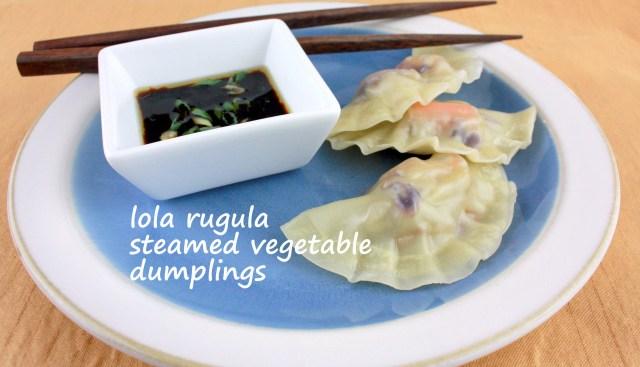 lola rugula easy veggie dumplings and dipping sauce