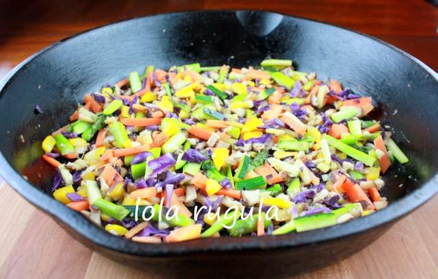lola rugula vegetables for veggie dumplings
