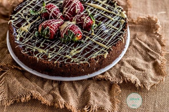 tarta de chocolate con fresas 2