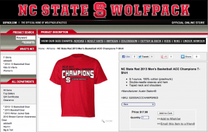 NC State Champs Shirt