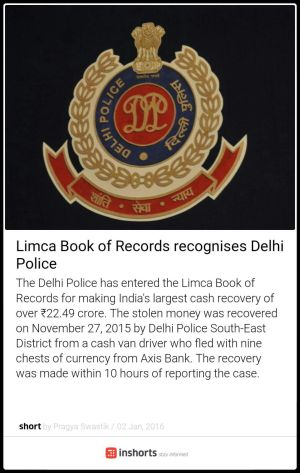 delhi police in limca book of records
