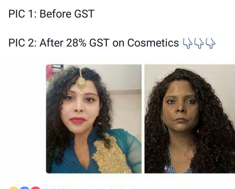 gst on cosmetics