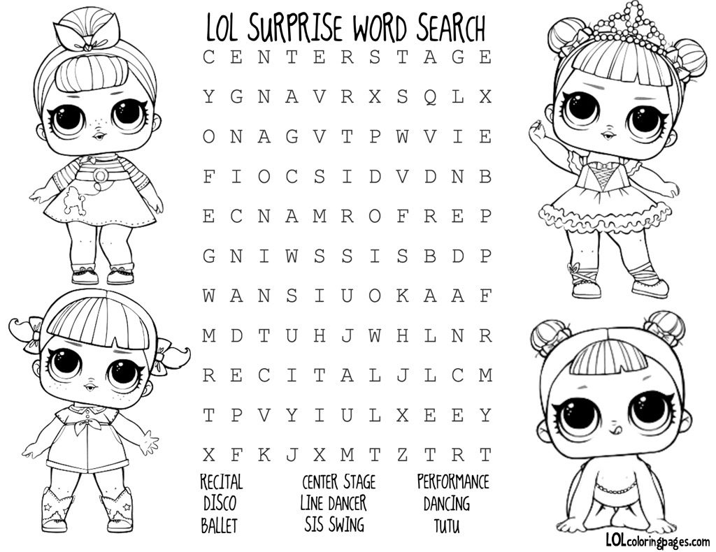 Lol Surprise Doll Coloring Pages Color Your Favorite Lol Surprise Doll