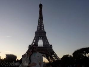 Torre Eiffel no cair da tarde