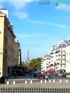 Quatier Latin – Vista da Torre Eiffel a partir do Panthéon