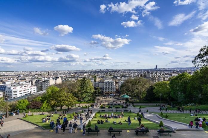 Sacré Coeur - Vista de Paris