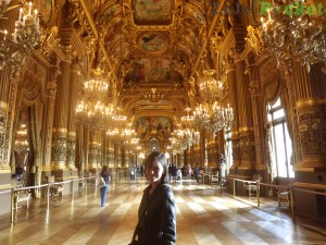 Um dos salões do Palais Garnier onde ocorrem desfiles do Paris Fashion Week
