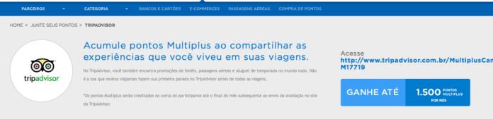 Hotsite TripAdvisor - milhas Multiplus