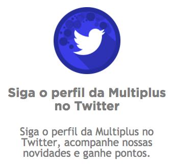 seguir twitter - milhas Multiplus