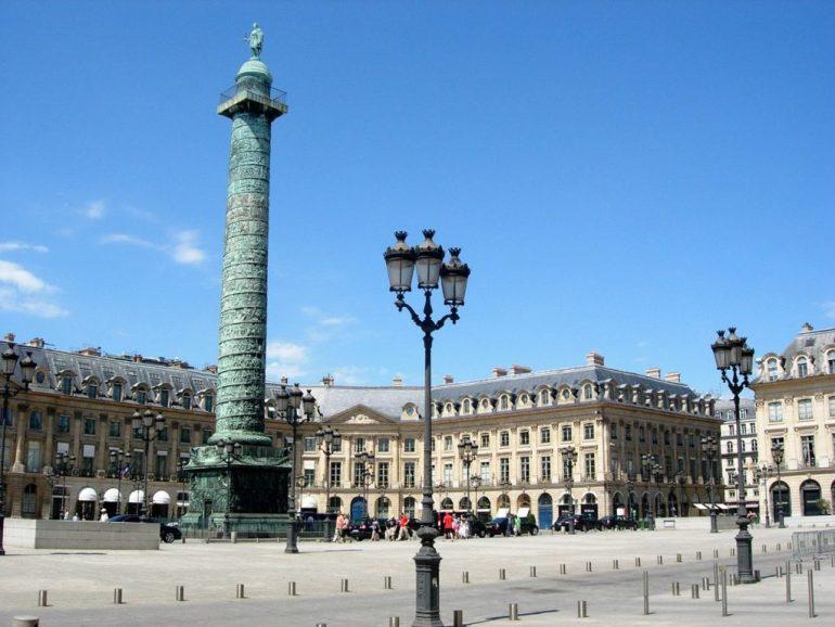 O que fazer em Paris de graça - Place Vendôme