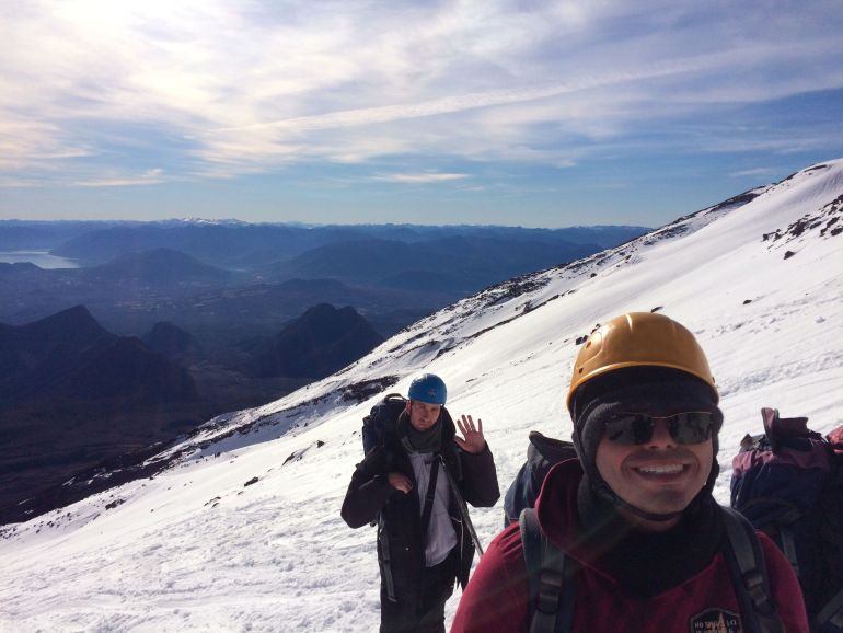 Subida Vulcão Villarica