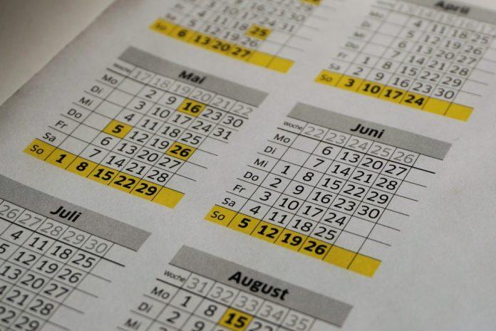 Hospedagem - Calendário