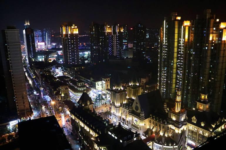 Wuhan - China - Compras Guang gu - Noite