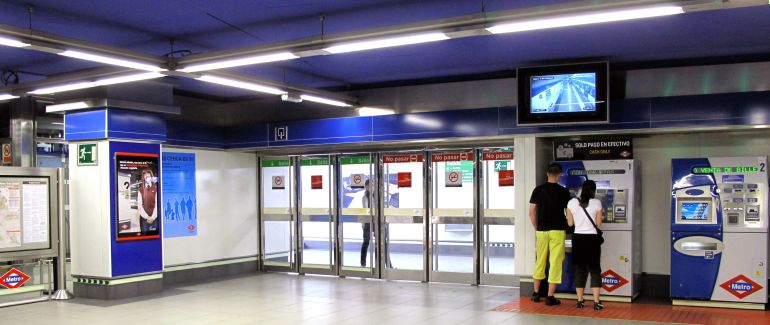 Metrô de Madri - Máquinas de Autoatendimento