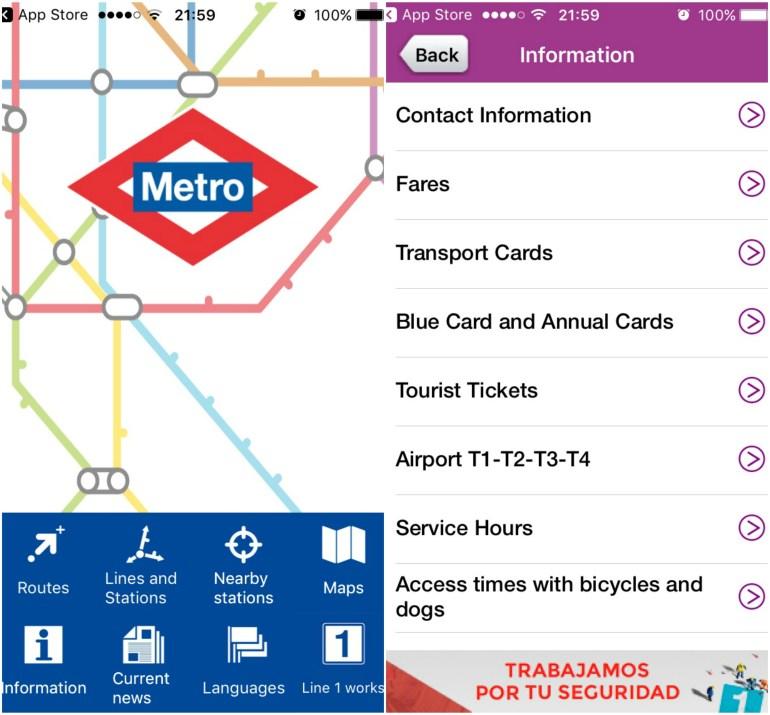 Metrô de Madri - app