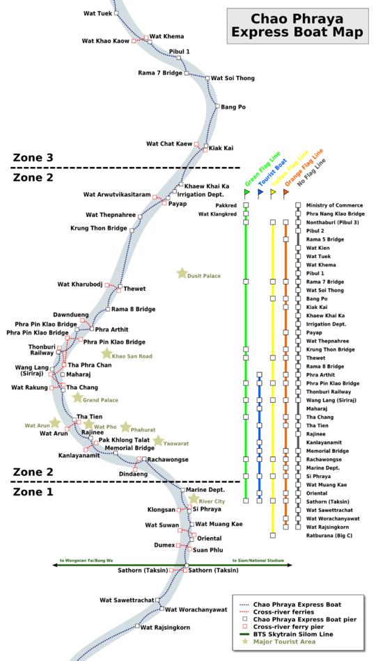 Como circular em Bangkok - Mapa
