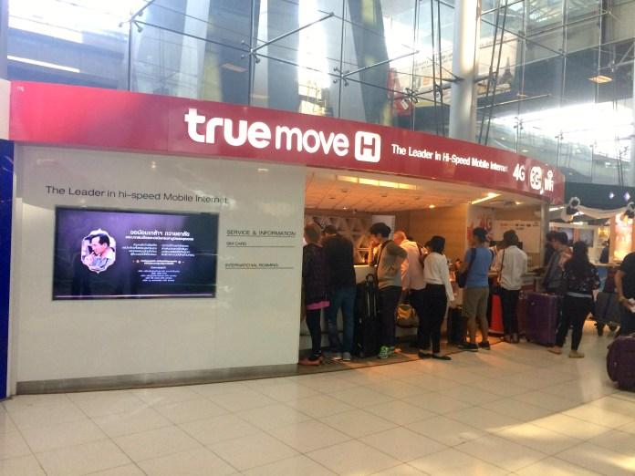 Aeroporto de Bangkok - Telefonia True
