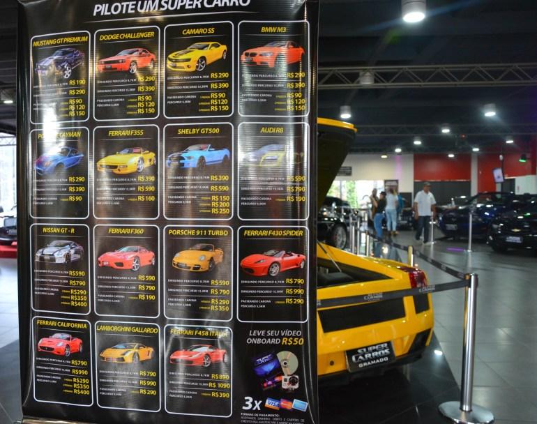 Super Carros - Tabela de Preço