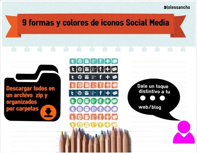 9 iconos gratis social mediablog