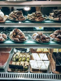Fresh pastry shop in Rome, Italy