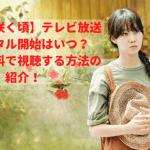 【椿の花咲く頃】テレビ放送・レンタル開始はいつ?今すぐ無料で視聴する方法の紹介!