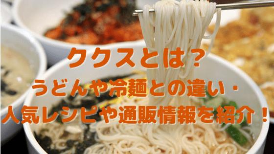 ククスとは?うどんや冷麺との違い・人気レシピや通販情報を紹介!
