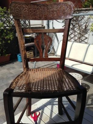 La seduta danneggiata