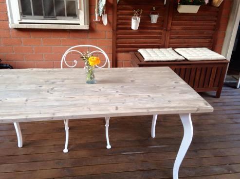 Il tavolo finito