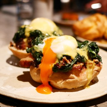 Brunch menu - Eggs Benedict with Short Ribs