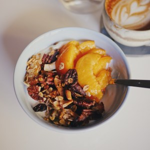 Homemade Granola Healthy Breakfast with Apricots
